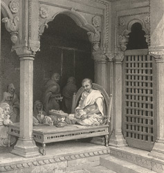 A Preacher Expounding The Poorans. In The Temple of Unn Poorna, Benares.